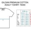 Gildan Size Table