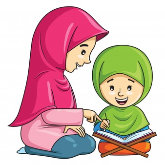 cartoon-muslim-girl-learning-recite-quran-with-her-mother_119631-267